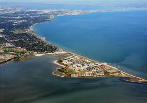 Aerial view on Corpus Christi