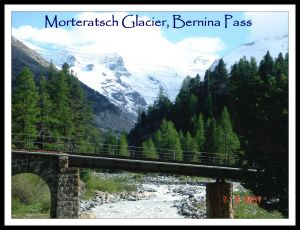 Morteratsch Glacier, Bernina Pass, Engadin, the Grisons