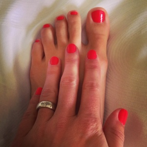 My very first manicure / pedicure... what I missed out on all this time!!