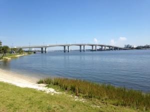Bridge from mainland to Daytona Beach Peninsula
