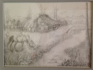 Now I know where my talents come from - one of my grandpa's drawings