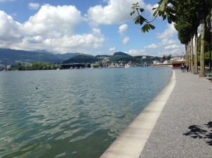 Lucerne with its current high waters.