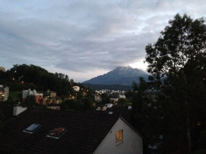 Mount Pilate as seen from my parent's balcony.