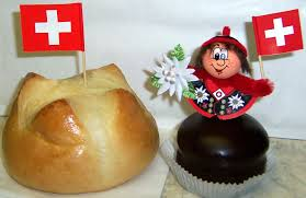 The typical Swiss National Day snack (on the left): 1. August Weggen.