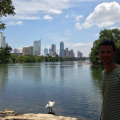 Lou Neff Point, Zilker Park. Yes, there is a person standing there on the right...