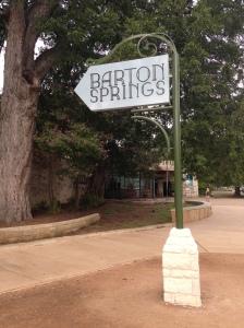 Barton Springs Pool sign