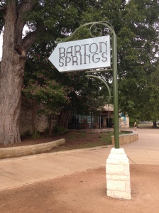 Barton Springs Pool sign