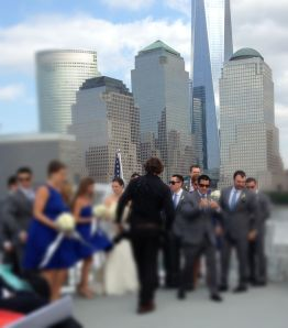 NY style wedding - blurred for protection of personality rights.