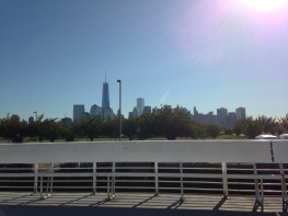 First glimpse of the NY skyline