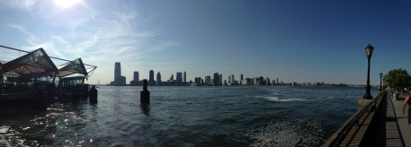 Jersey City seen from the World Financial Center Ferry Terminal