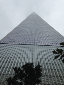 "Freedom Tower disappearing into the clouds... the only ""bad weather"" day"