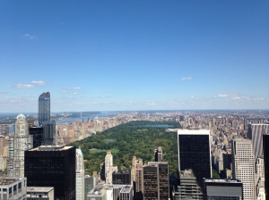 Central Park as seen from the Top of the Rock(efeller Center)