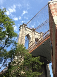 A glimpse of Brooklyn Bridge
