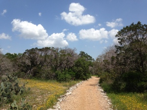 """My """"private"""" running trail."""