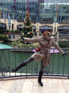 """Me doing the so-called """"X-mas Luzi"""" in front of the Chrismas tree."""