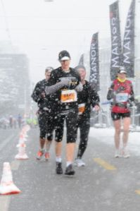 Me and the blizzard half-marathon.