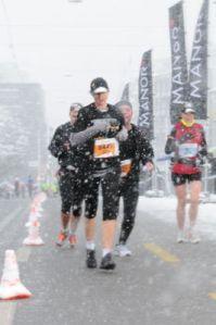 Me and the blizzard half-marathon.
