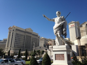 Caesar with his palace.