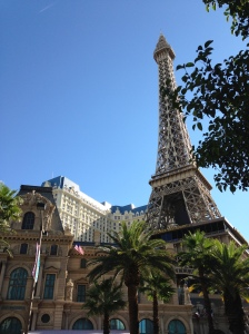 Paris by day. Paris, Las Vegas, of course.
