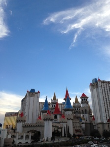 Excalibur, the Disney-looking castle casino and hotel.