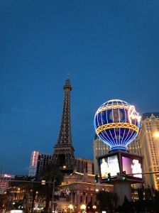 Paris by night. Paris in Las Vegas, that is.
