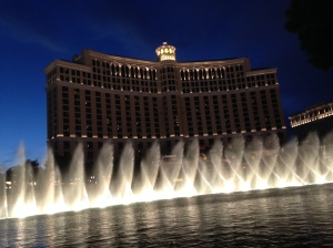 Beautiful Bellagio water and light show.