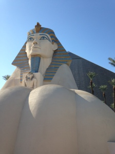 The Sphinx and Luxor Hotel.