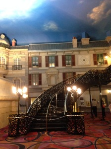 "Paris in Vegas. I'm ""stair""-ing in awe!"