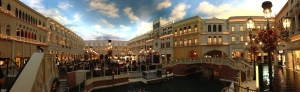 Panorama of the Venetian's inside. Marvelous.