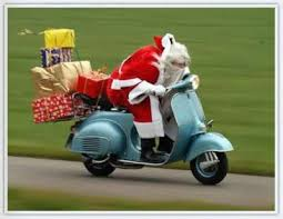 Sometimes even Santa's in a hurry...