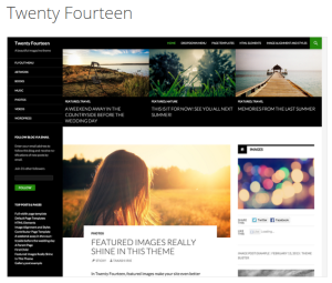 My new theme: Twenty Fourteen.