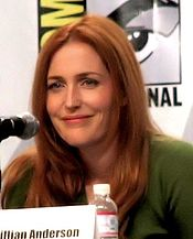 Gillian Anderson, aka Special Agent Dana Scully.