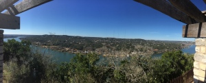 Panoramic view from Mount Bonnell.