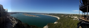 Lake Travis panorama from The Oasis.