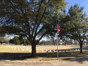 Veterans' cemetery.