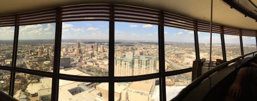 Panoramic shot from the Tower of Americas.
