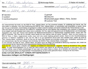 Adoption contract dated 1/3/2009.