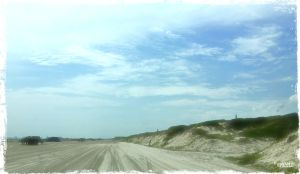 Beach at Port Aransas... white, fine sand as far as the eye can see.