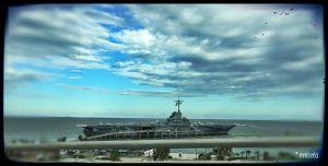 The famous USS Lexington - it's huge!