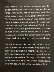 Blurb on back of book (German only).